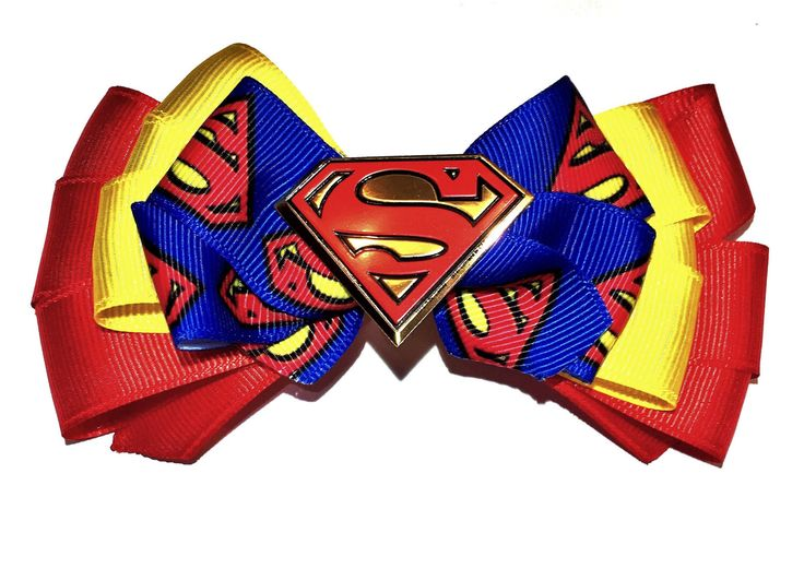 A personal favorite from my Etsy shop https://www.etsy.com/listing/506404395/superman-hair-bow