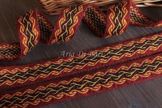 Tablet weaving trim, interesting pattern, tablet weaving, viking medieval, reenactment, sca, larp