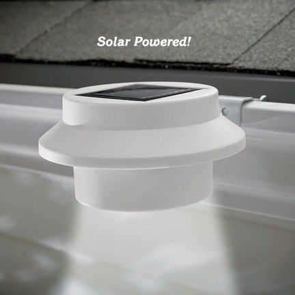 Solar Gutter Light - illuminates dark areas around your home's exterior