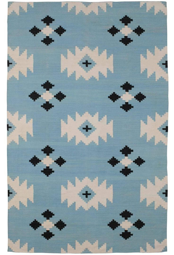 This rug is made from clean, natural fibers that are non-toxic without sacrificing the cute factor!: Rugs Company, Boys Nurseries, Area Rugs, Wallpapers Patterns, Blue Rugs, Living Rooms Rugs, Navajo Rugs, Udaipur Blue, Textiles Prints