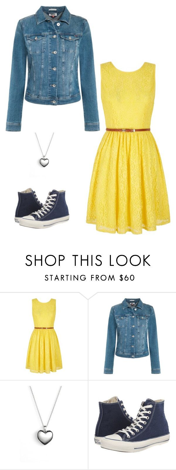 """Summer Date Outfit"" by winniehorner on Polyvore featuring Yumi, Tommy Hilfiger, Pandora and Converse"