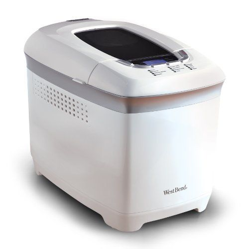 West Bend® 2-pound Hi-rise™ Bread Maker in White Pre Programmed Digital Control Panel Nonstick Pan Measuring Cups Spoon * Click image to read more details. #BreadMachines