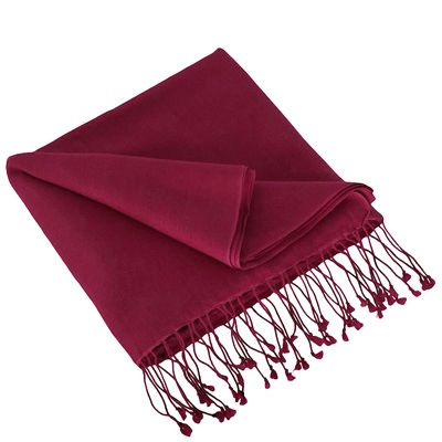 Wine Red Pashmina by ColorMeSocks™