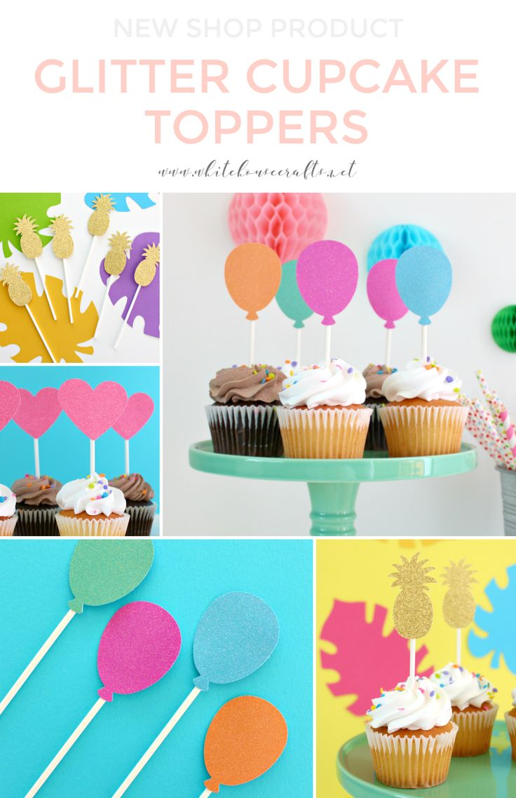 SHOP WHC: NEW GLITTER CUPCAKE TOPPERS