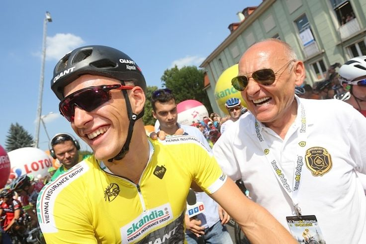 2015 tour-de-pologne photos stage-03:  Race leader, Marcel Kittel (Giant - Alpecin) and the race organizer at the stage 3 start in Zawiercie