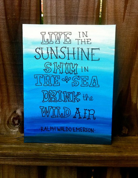 Live in the sunshine quote canvas