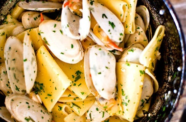 Paccheri and Clams   For The Cook Book   Pinterest