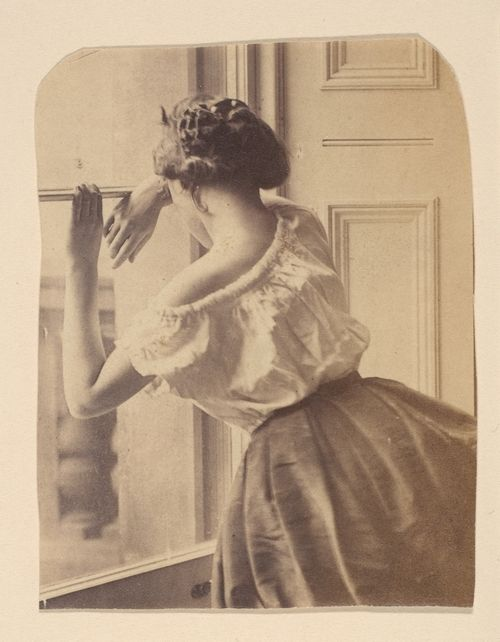 """1860s """"Photographic Study""""  this is surprisingly relaxed and informal for a Victorian photo, love it"""