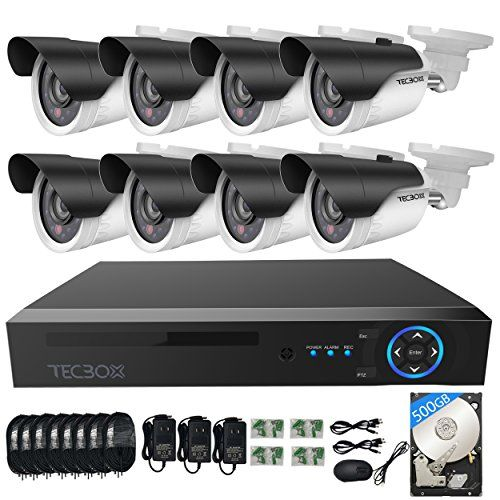 TECBOX AHD DVR 8 Channel Security Camera System with 8 HD 720P Outdoor CCTV Cameras Remote View Motion Detection 500GB Hard Drive Installed For Sale http://ift.tt/2imcpO7