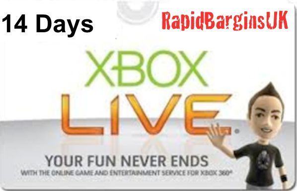 14 Day (2 Weeks) Xbox Live Gold Trial - Instant Dispatch -Trusted UK Seller