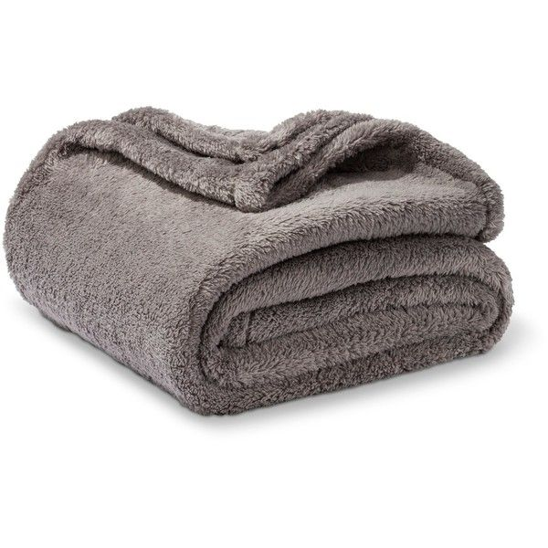 Fuzzy Blanket Throw - Threshold™ : Target (82 BRL) ❤ liked on Polyvore featuring home, bed & bath, bedding and blankets