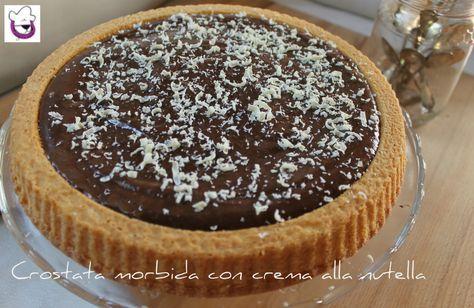 """Ricetta """"Crostata morbida con crema alla Nutella, ricetta tradizionale e ricetta Bimby"""""""
