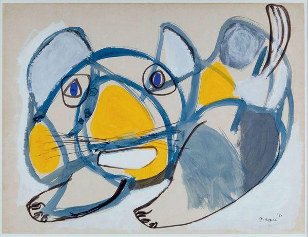 COBRA, sous le regard d'un passionné : KAREL APPEL, Le Chat, 1951, coll. privée