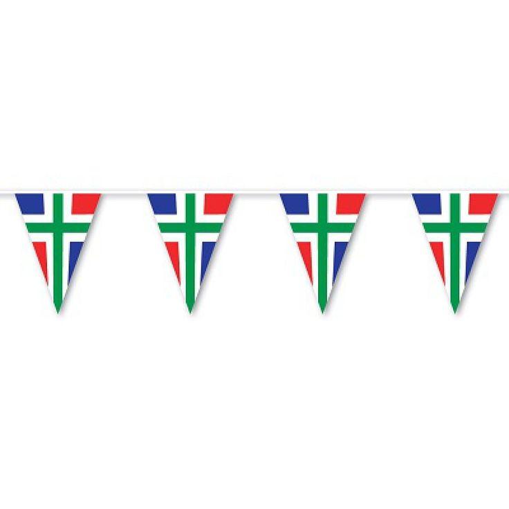 Vlaggenlijn van Groningen gemaakt van een top kwaliteit kunststof daardoor zeer geschikt voor zowel binnen als buiten.