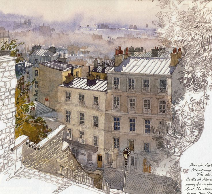 Fabrice Moireau: Watercolour from Paris Sketchbook