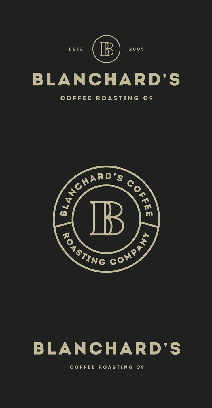 New Logo and Packaging for Blanchard's by Skirven & Croft . Vintage Style . Coffee Roasting Company .