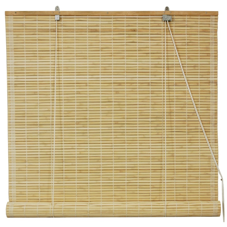 Oriental furniture bamboo roll up blinds in natural 72 for 15 inch window blinds