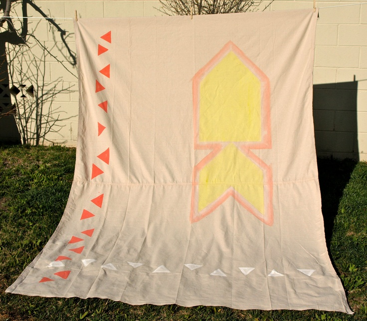 Aztec Industrial Tapestry Rug. $45.00, via Etsy.