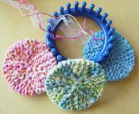 Loom Scrubbies  http://gettinitpegged.files.wordpress.com/2009/07/scrubby-os.pdf