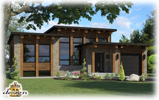 807 le hyt bungalow plain pied plans design for the home pinterest modern the modern. Black Bedroom Furniture Sets. Home Design Ideas