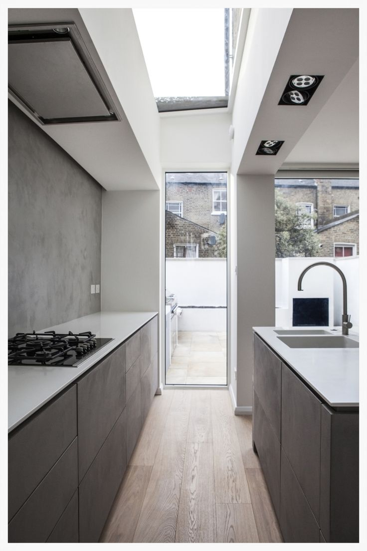 skylight minimal kitchen timber ceadesign