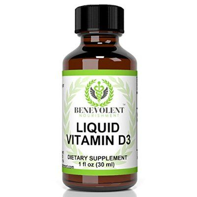 Vitamin D3 5000 IU. Potent & Effective Liquid Drops Absorb Fast to Best Boost Your Bone & Skin Health, Immune System, Increase Energy & Help with D 3 Vitamins Deficiency.