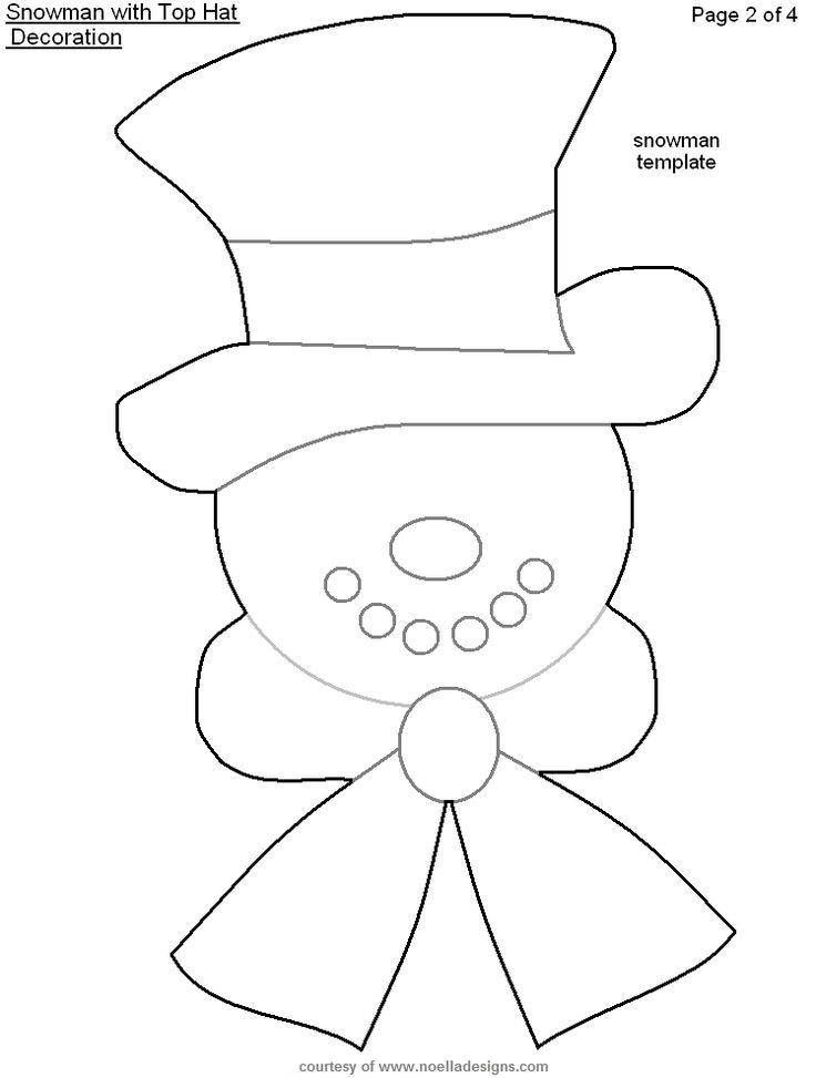 90 best templates images on Pinterest Coloring, Molde and - snowman template