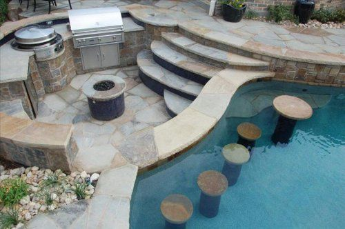 25 Creative Pool Bar Ideas | Custom Pool Ideas #poolbar Architectural Landscape Design