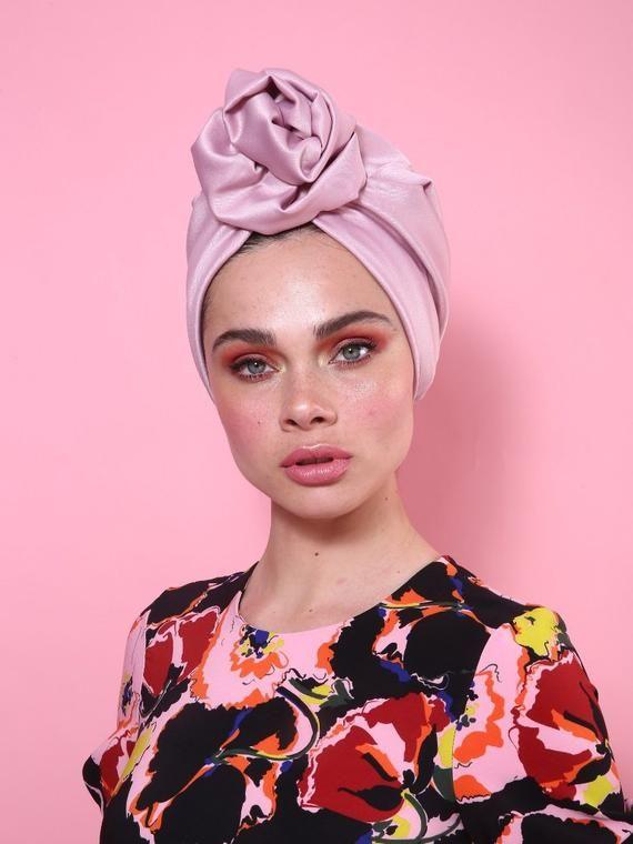 Turban de Mode Chapeau Musulmane Turban avec des Accessoire de Fleur pour Les Femmes Cancer Confortable Tissu Coiffure