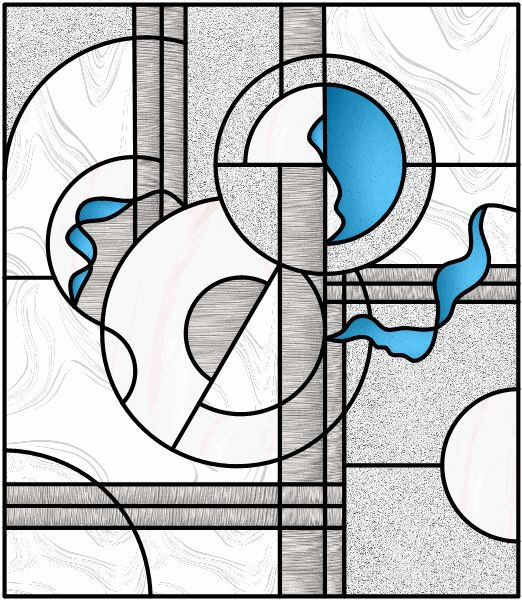 Abstract Stained Glass Pattern   Abstract Glass Feature Window