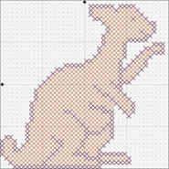 Free kangaroo cross stitch pattern from DLTK.