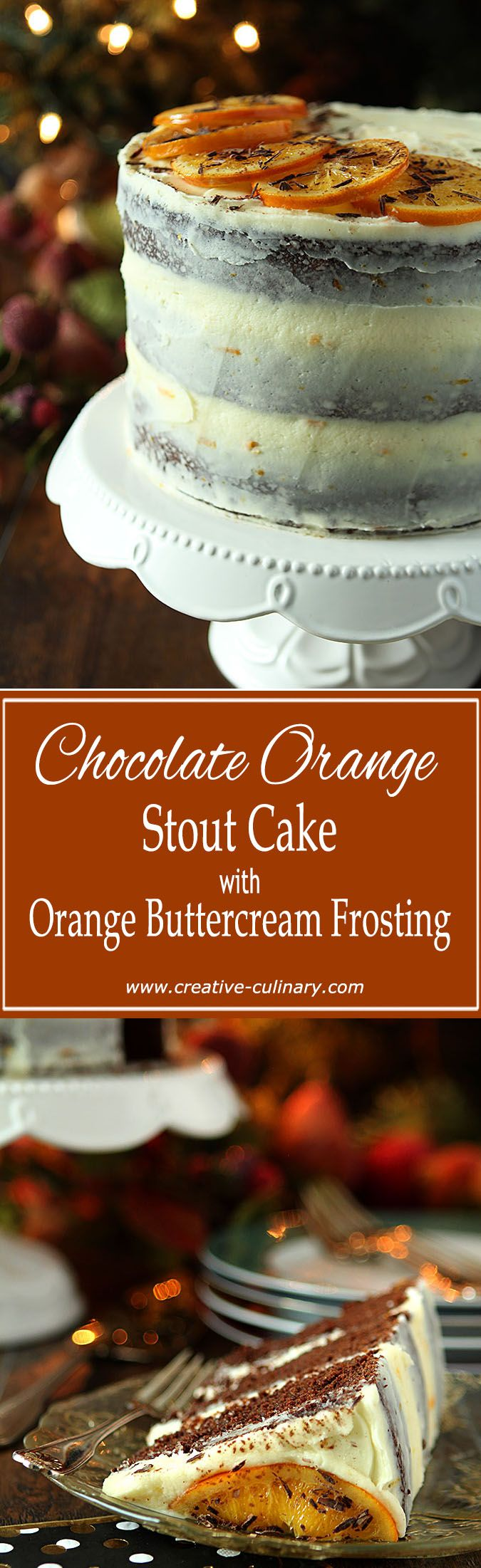 Breckenridge Brewery's latest release was so perfect in this Chocolate Orange Stout Cake with Orange Buttercream Frosting. via @creativculinary