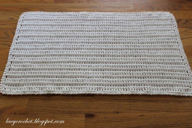 Crochet Bath Mat, Very Simple Pattern