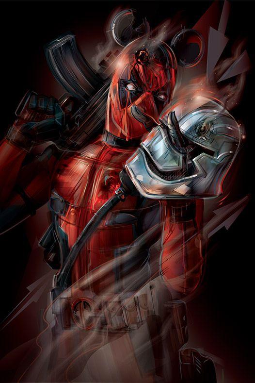 Force Awakens Deadpool Art