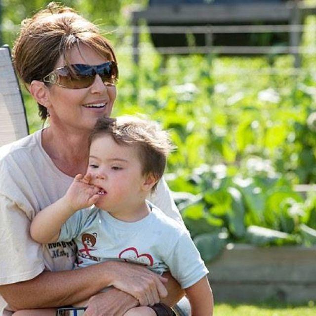 Sarah Palin and son