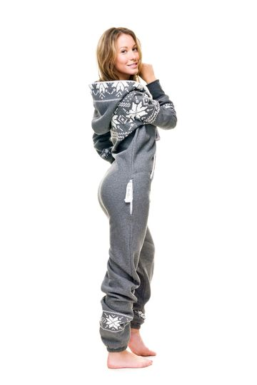 Hooded onesie pajamas. Now that's what I'm talking about!! This looks sooo comfy!!
