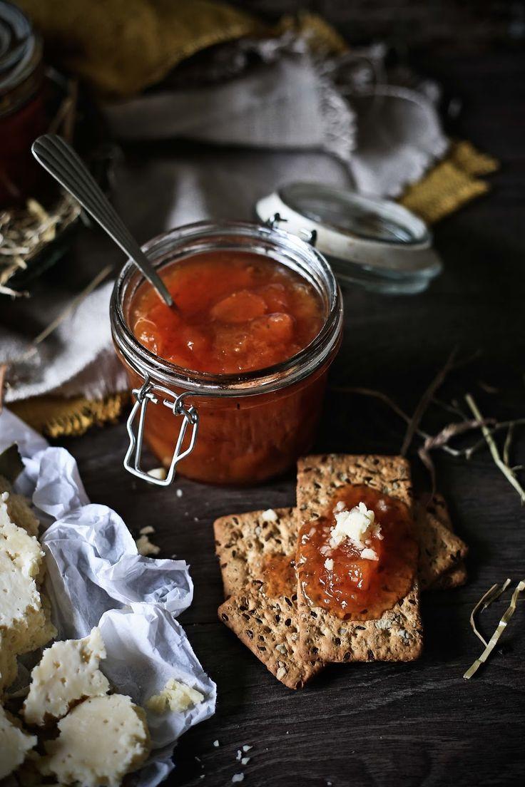 Pratos e Travessas: Doce de pêssego com canela e erva doce # Peach jam with cinnamon and ground dill seeds