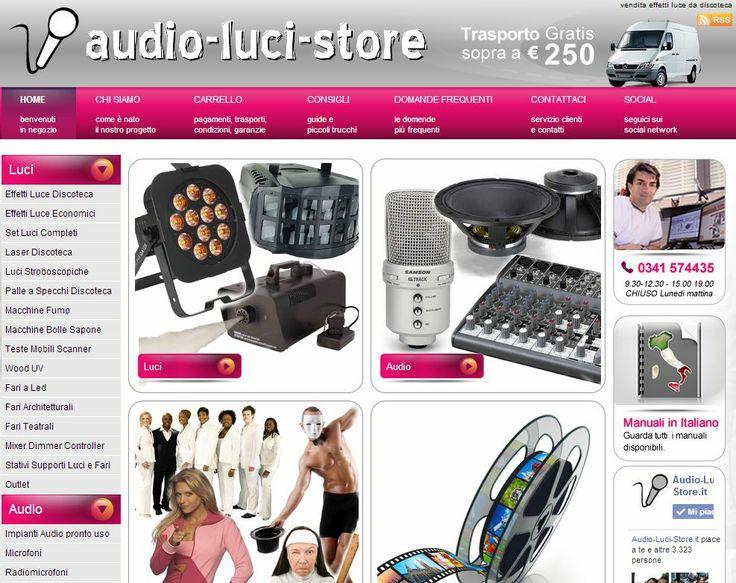 Necessiti di attrezzature audio professionali o impianti ed effetti luce sei nel posto giusto, Audio luci store, è il negozio che fa per te:  www.audio-luci-store.it