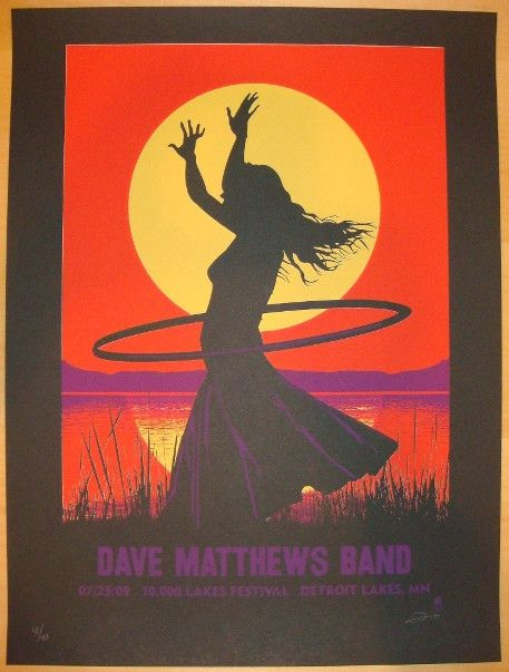 2009 Dave Matthews Band - 10,000 Lakes Fest. Poster by Methane