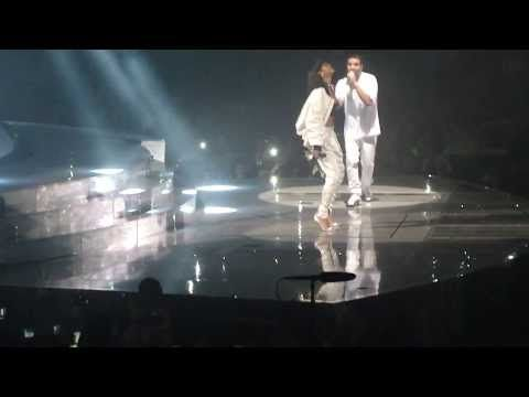 Drake & Rihanna - Take care + dance + Pour it up LIVE @ Paris bercy (25.02.2014) - YouTube
