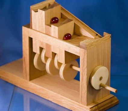 Hand Cranked Marble Climber With Pdf Plans Woodworking