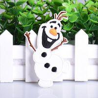 1 unid Precioso Muñeco de Nieve Feliz Insignias Parches Bordados Ropa Apliques de Hierro-en Remiendo De Pegatina de Dibujos Animados DIY Accesorios