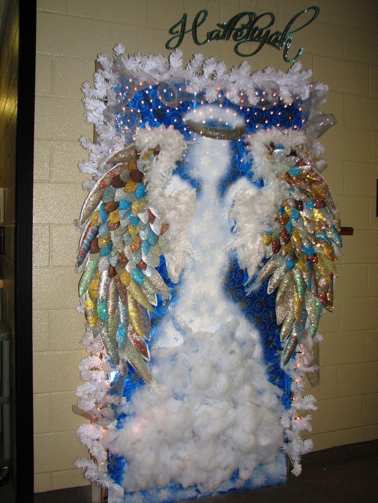 Hallelujia angel christmas door decorations pinterest for Angel christmas decoration