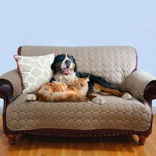 EZ Living Home Circle Couch Protector Brown