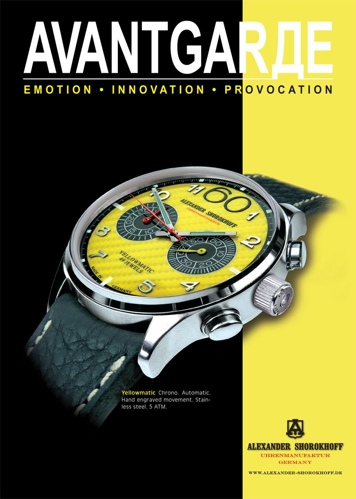 Alexander Shorokhoff Yellowmatic Automatic Chrono Emotion