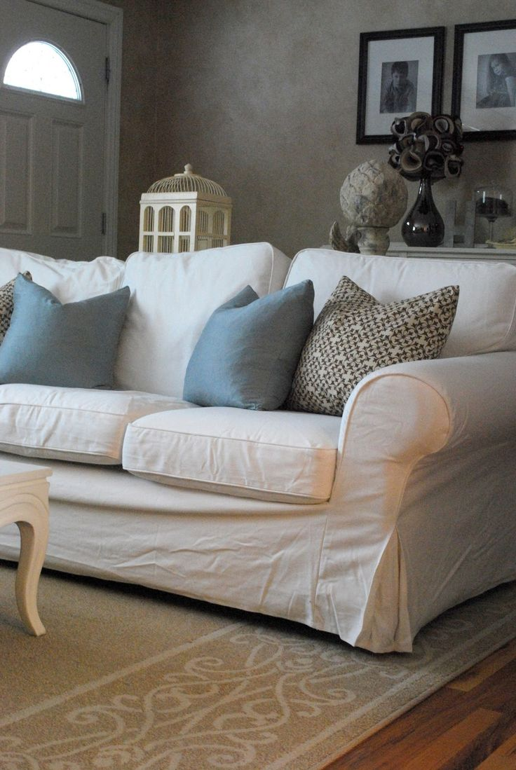 White Slipcovers For Sofas