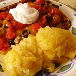 "Sweet Corn Cake - ""A Mexican sweet corn cake with a spoon bread consistency."""