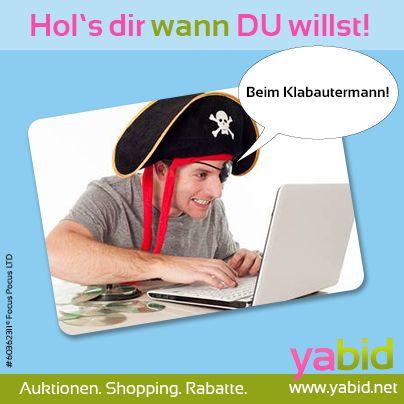 #Deals in Sicht, ihr #Landratten! Greif' dir die #Schätze bei #Yabid und fühl' dich wie ein echter #Freibeuter! Hol's dir wann DU willst! www.yabid.net