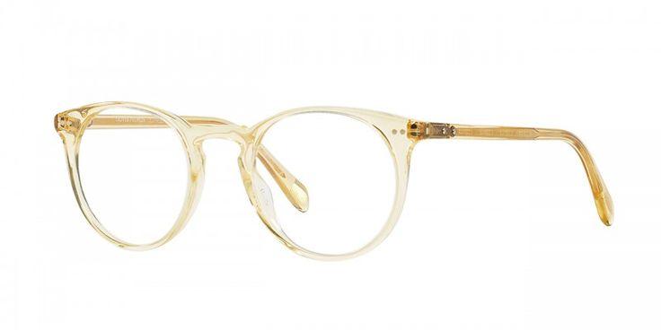 Oliver Peoples | Sir O'Malley Vintage Beige Crystal Optical Eyewear by Oliver Peoples