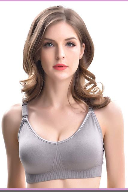 13b609ac731 VENTHY Seamless Breastfeeding Bra Silk Sleeping Bralette Women s Full Bust  Nursing Wireless Wirefree Seamless Bra nursing bra for large breasts ...